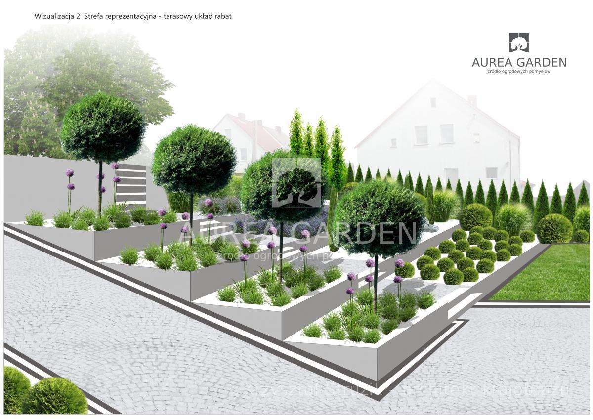 Projekt Ogrodu Ogród Nowoczesny Z Widokiem Na Rzekę