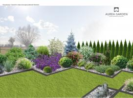 Aurea Garden - Ogród nowoczesny - Gorzów