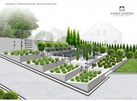 Aurea Garden - Projekty ogrodów nowoczesnych - Kostrzyn