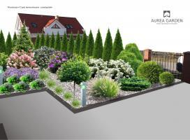 Aurea Garden - Ogród nowoczesny - Gorzów Wlkp