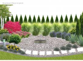 Palenisko - miejsce spotkań w części rekreacyjnej ogrodu