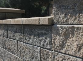 Ogrodzenie murowane Joniec kolor piryt