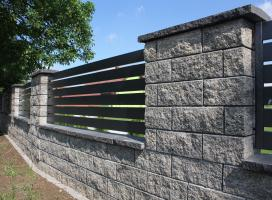 Ogrodzenie murowane Joniec kolor onyx
