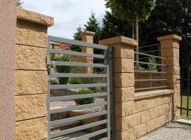 Ogrodzenie murowane Skała Lubuska kolor piaskowiec